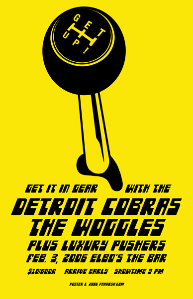 Detroit Cobras/Woggles, screen Print $20 + s/h