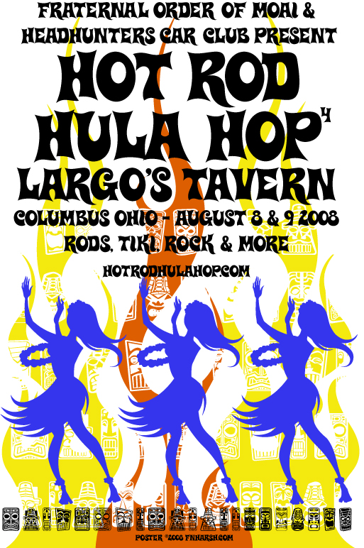 Hot Rd Hula Hop, screen print $20 + s/h