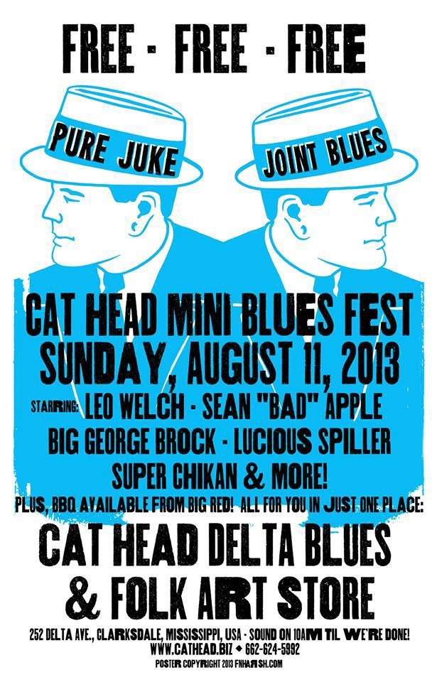 Cat Head Juke Fest, screen print $20 +s/h